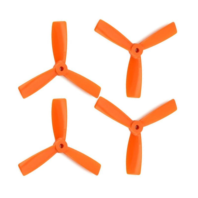 Orange HD Propellers 5045(5X4.5) Tri Blade Bullnose Polycarbonate Orange 2CW+2CCW-2pairs
