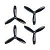 Orange HD Propellers 6045(6X4.5) Tri Blade Bullnose Polycarbonate Black 2CW+2CCW-2pairs