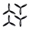Orange HD Propellers 6045(6X4.5) Tri Blade Bullnose Polycarbonate Black 2CW+2CCW-2pairs