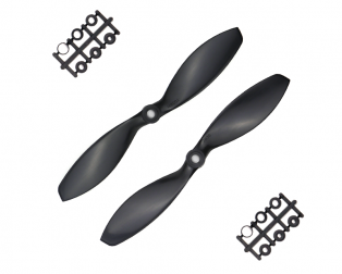 Orange HD Propellers 7038(7X3.8) ABS Black Props 1CW+1CCW-1pair