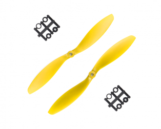 Orange HD Propellers 9047(9X4.7) ABS Yellow 1CW+1CCW-1pair