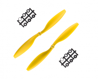 Orange HD Propellers 1045(10X4.5) ABS Yellow 1CW+1CCW-1pair