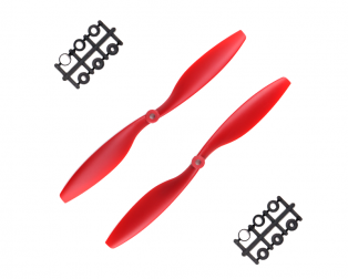 Orange HD Propellers 1045(10X4.5) ABS Red 1CW+1CCW-1pair