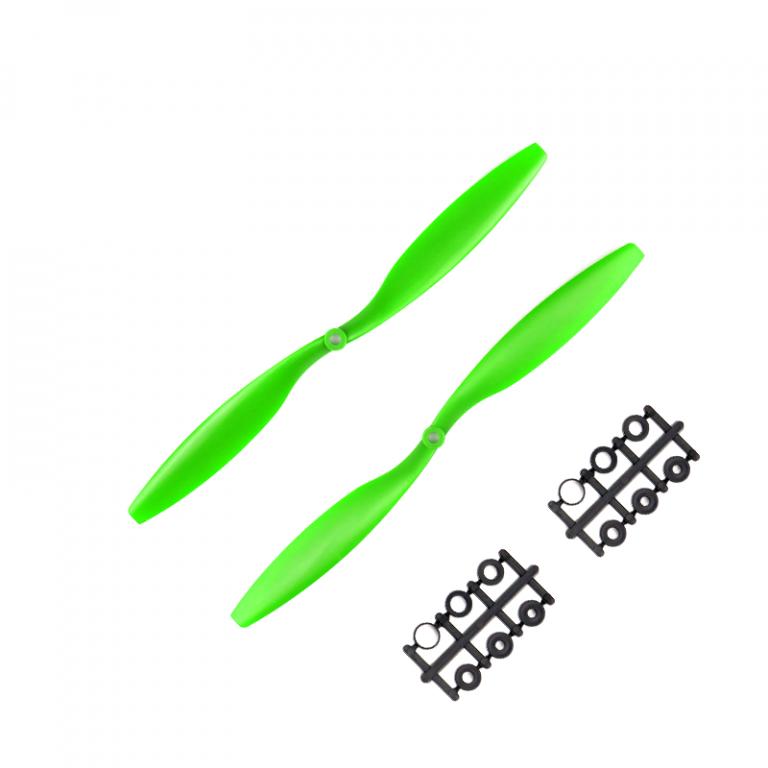 Orange HD Propellers 1245(12X4.5) ABS Green 1CW+1CCW-1pair