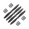Orange HD Propellers 6045(6X4.5) Carbon Nylon Props 2CW+2CCW-2pairs Black