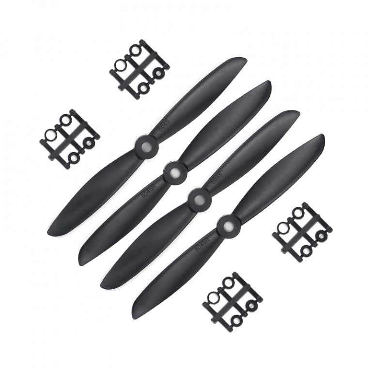 Orange HD Propellers 6045(6X4.5) Carbon Nylon Props 2CW+2CCW-2pairs Black