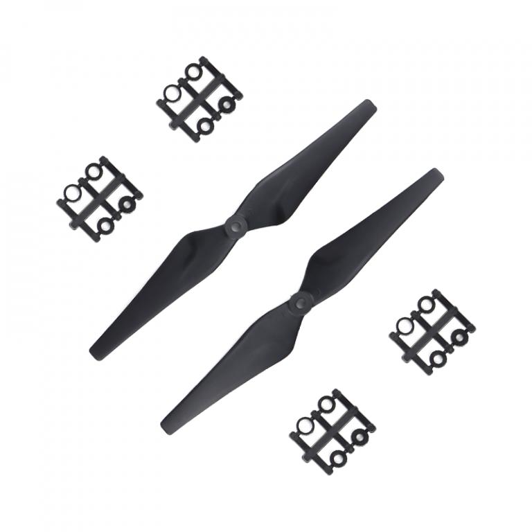 Orange HD Propellers 9443(9X4.3) Glass Fiber Nylon Black 1CW+1CCW-1pair