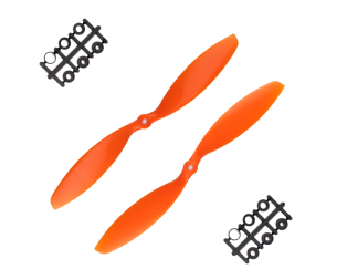 Orange HD Propellers 1038(10X3.8) ABS Orange 1CW+1CCW-1pair