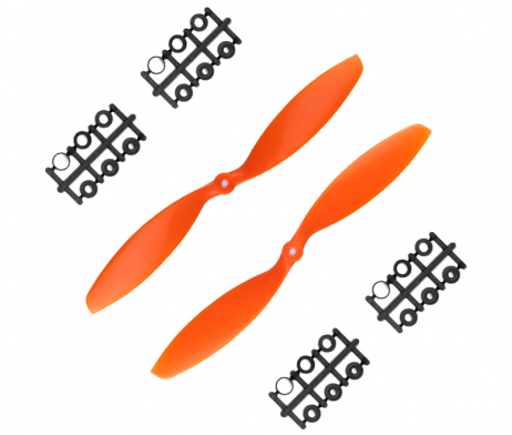 Orange HD Propellers 1038(10X3.8) ABS Orange 1CW+1CCW-1pair