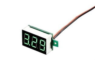 DC 3.6-28V 2 wire Green LED display digital voltage Voltmeter Panel (Robu.in)