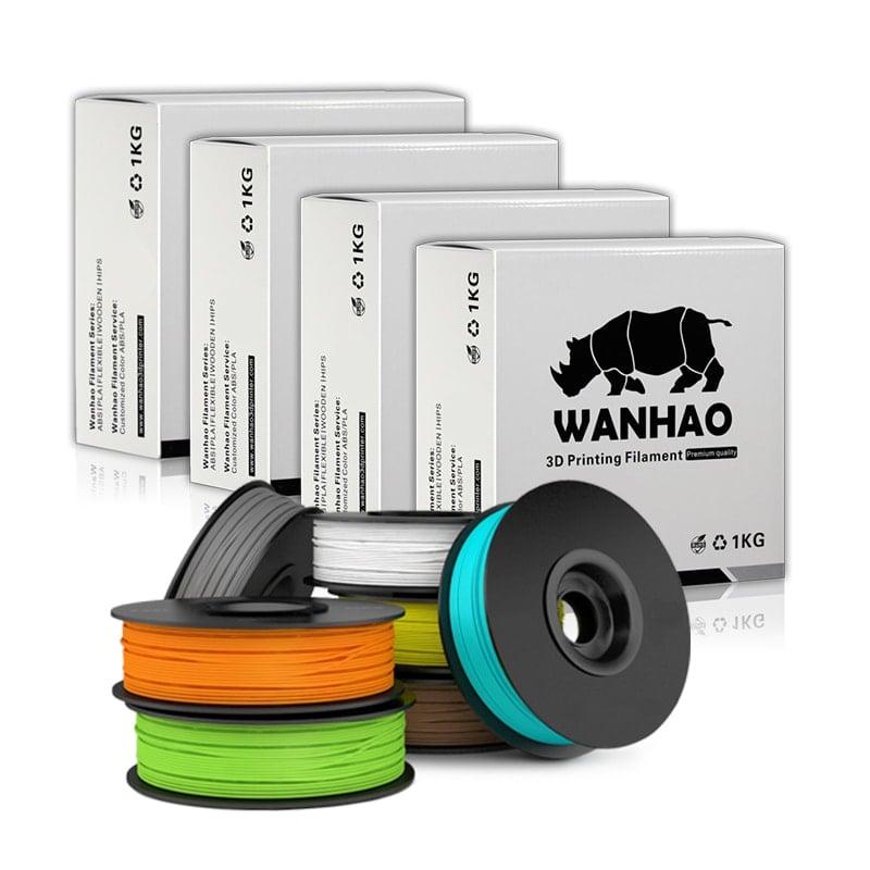 WANHAO Blue ABS 1.75 mm 1 KG Filament for 3D printer - Premium Quality