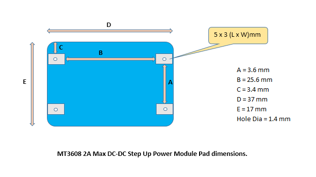 MT3608 2A Max DC-DC Step Up Power Module