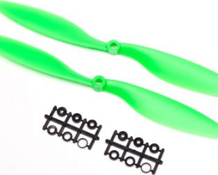 Orange HD Propellers 1038(10X3.8) ABS 1CW+1CCW-1pair Green