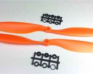 Orange HD Propellers 1045(10X4.5) ABS 1CW+1CCW-1pair Orange