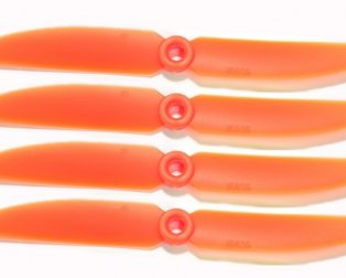 Orange HD Propellers 5030(5X3.0) Glass Fiber Nylon 2CW+2CCW-2pairs Orange