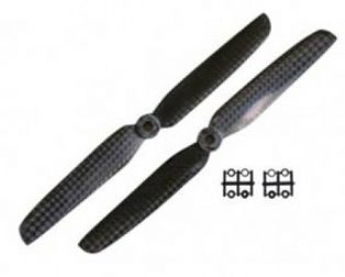 Orange HD Propellers 6030(6X3.0) Carbon Fiber Props 1CW+1CCW-1pair Black