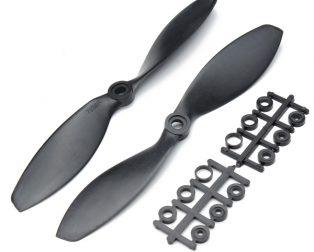 Orange HD Propellers 7038(7X3.8) ABS 1CW+1CCW-1pair Black
