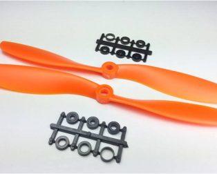 Orange HD Propellers 8045(8X4.5) ABS 1CW+1CCW-1pair Orange
