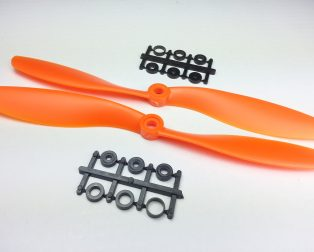 Orange HD Propellers 8045(8X4.5) ABS Props 1CW+1CCW-1pair Orange