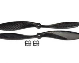 Orange HD Propellers 9047(9X4.7) Carbon Fiber Props 1CW+1CCW-1pair Black