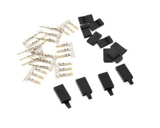 Servo Connector - Futaba With Locking Hook-10Pcs.