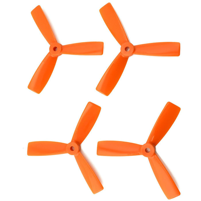 Orange HD Propellers 6045(6X4.5) Tri Blade Bullnose Polycarbonate Orange 2CW+2CCW-2pairs
