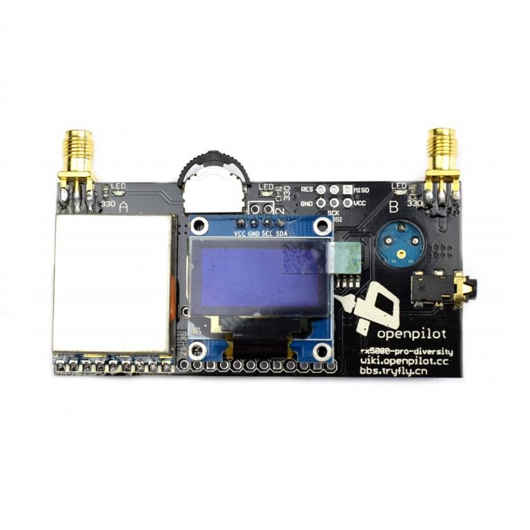 DIY RX5808 5.8G 40CH diversity FPV receiver with OLED display for FPV racer Quad