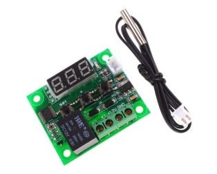 W1209 Temperature control switch with Temperature sensor and display (Robu.in)