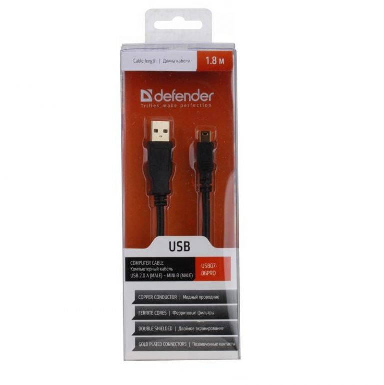 1.8 Meter USB 2.0 A Male to Micro-B 5pin Male 2824AWG Cable