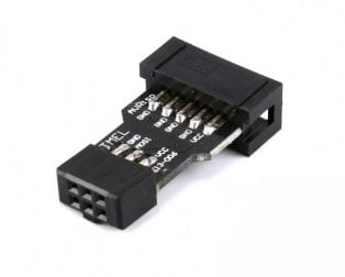 AVRISP 10 Pin to 6 Pin Adapter Board USBASP STK500
