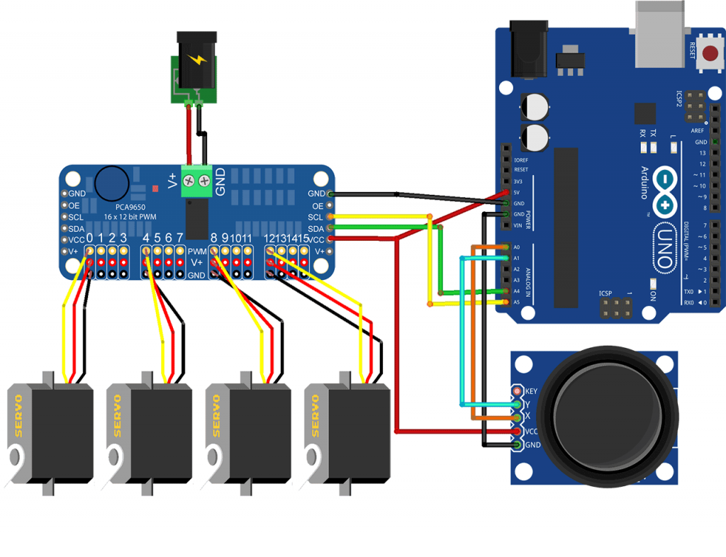 16-Channel 12-bit PWM/Servo Driver - I2C interface - PCA9685 (Robu.in)