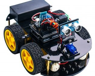 24in1 Elegoo Arduino Smart Robot Car Kit with Rechargeable Batteries