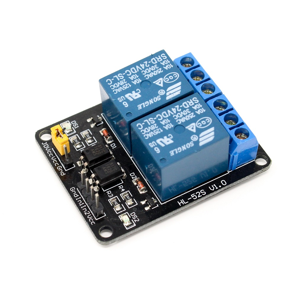 24V Dual Channel Relay Module (with Light Coupling) - Robu in | Indian  Online Store | RC Hobby | Robotics