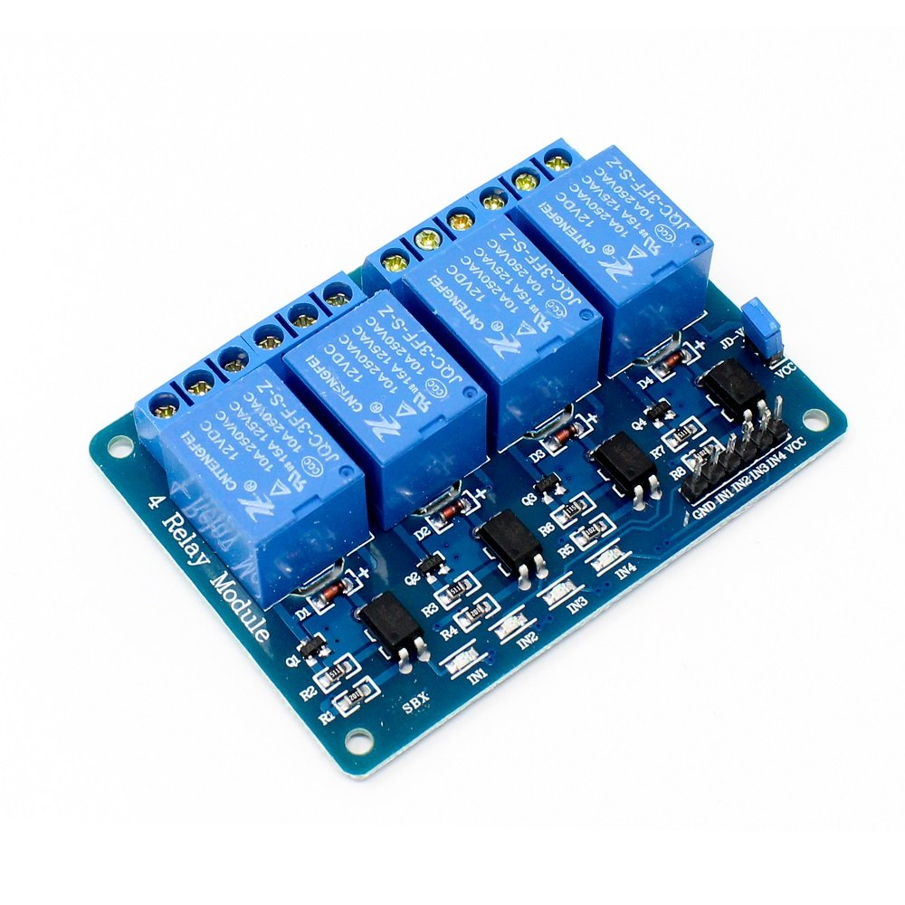 4 Road/Channel Relay Module (with light coupling) 12V - Robu.in | Indian on