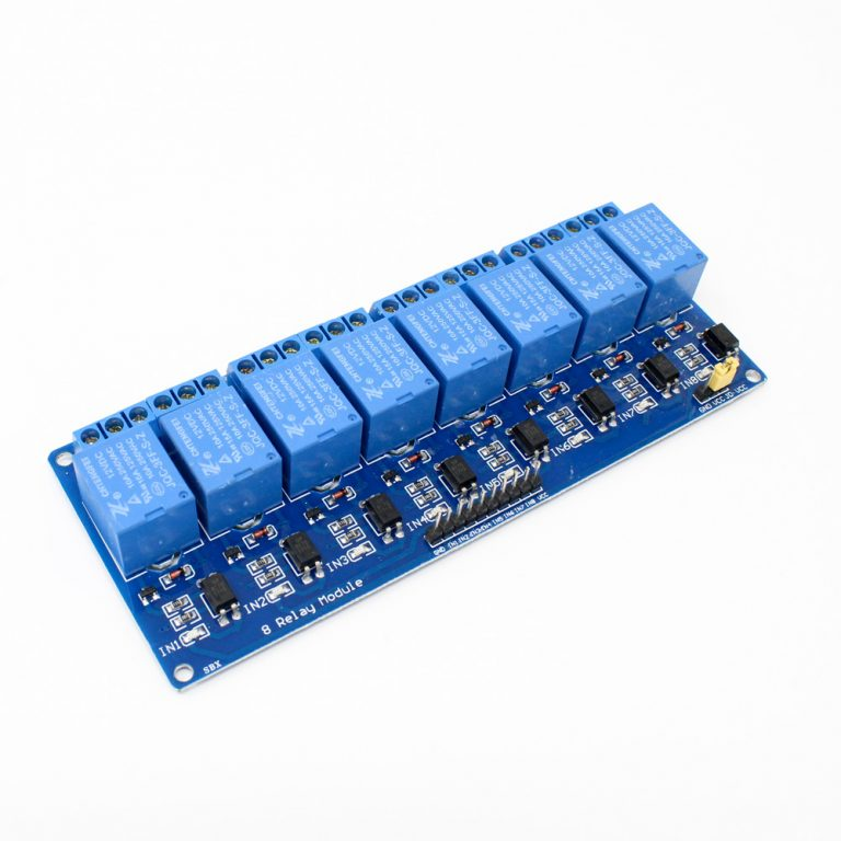 8 Road/Channel Relay Module (with light coupling) 12V - Robu.in