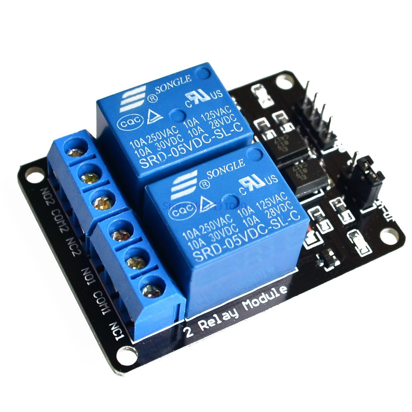 12V Dual Channel Relay Module (with Light Coupling) - Robu.in | Indian  V Dual Relay Wiring on