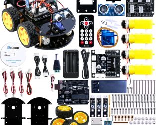 DIY Transparent Motor Smart Robot Car Chassis Kit - Robu in