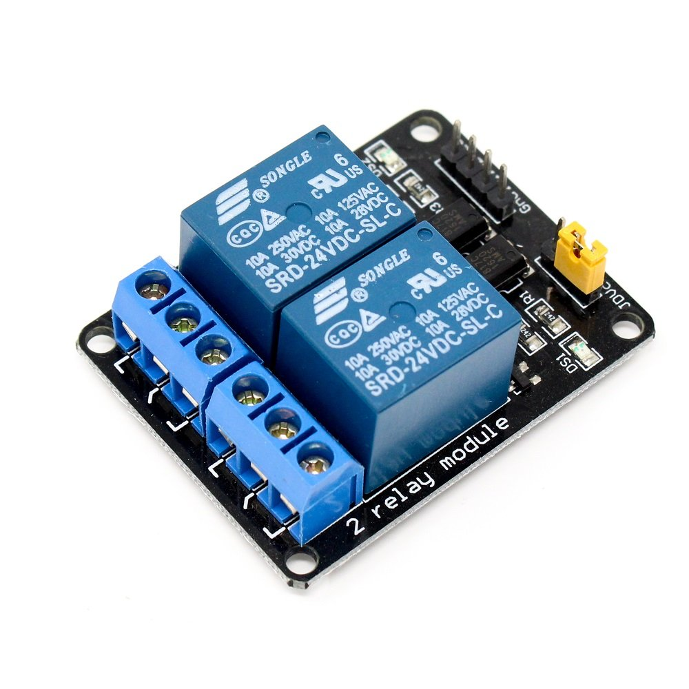 2 Road/Channel Relay Module (with light coupling) 24V