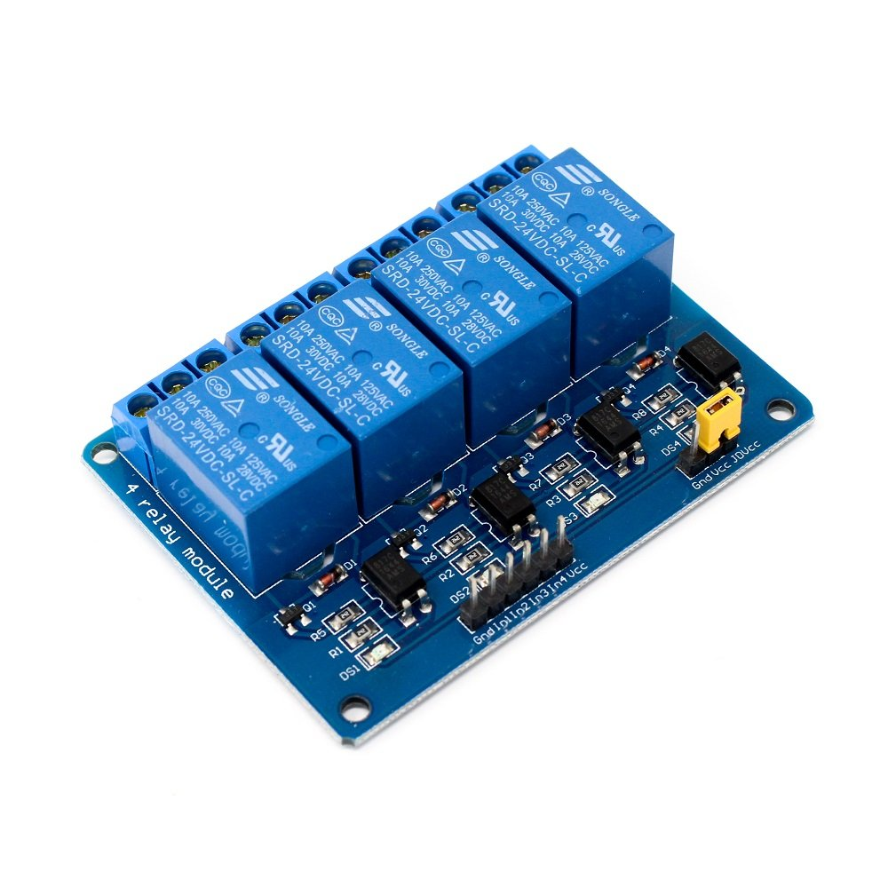 4 Road/Channel Relay Module (with light coupling) 24V