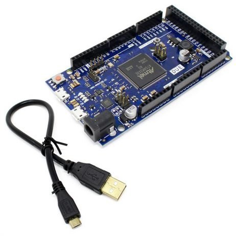 Due AT91SAM3X8E ARM Cortex-M3 Board with Micro USB Cable Compatible with Arduino