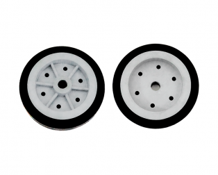 EasyMech 100mm Modified Heavy Duty(HD) Disc Wheel (Gray) - 2PC