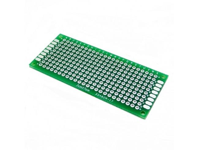 3x7 cm Universal PCB Prototype Board Double-Sided-2pcs.