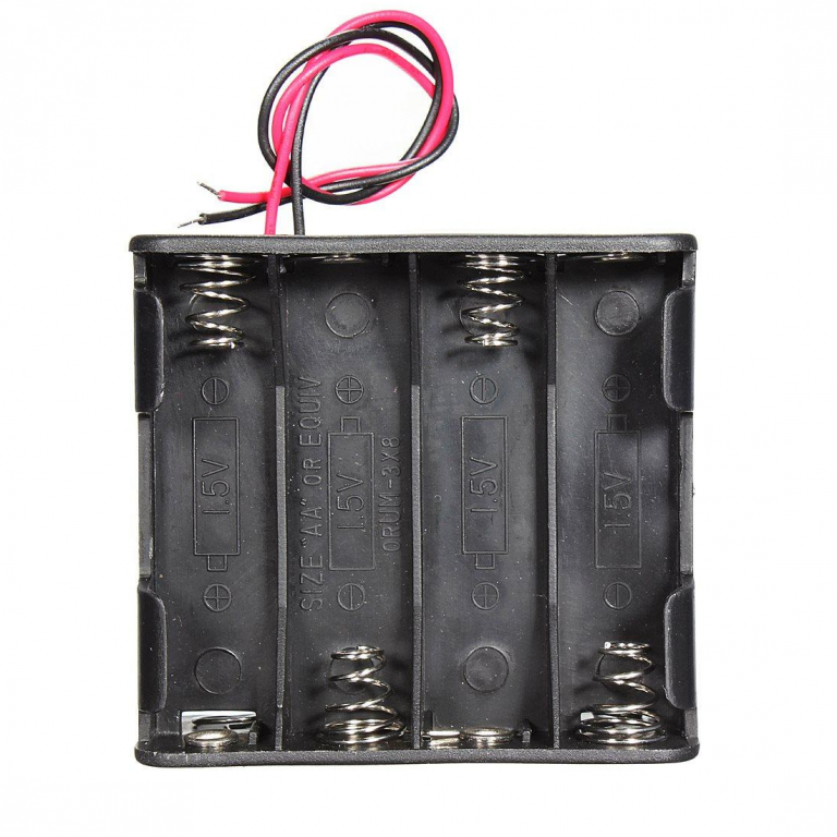 4 x AA Battery Holder Box, Without Cover-2pcs