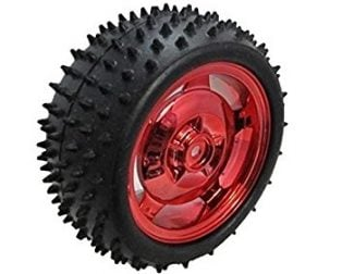 85MM Large Robot Smart Car Wheel, 38MM Width Surface Red (Robu.in)