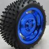 85MM Large Robot Smart Car Wheel, 38MM Width Surface Blue