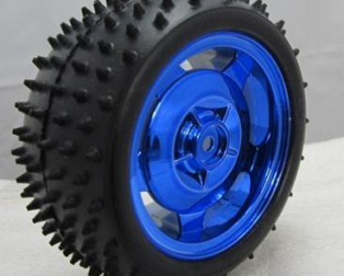 85MM Large Robot Smart Car Wheel, 38MM Width Surface Blue
