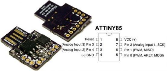 ATTINY85 USB Development Board