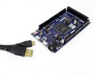 Arduino Due, AT91SAM3X8E ARM Cortex-M3 Board with Micro USB Cable - Robu (1)