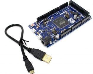 Arduino Due, AT91SAM3X8E ARM Cortex-M3 Board with Micro USB Cable - Robu (4)