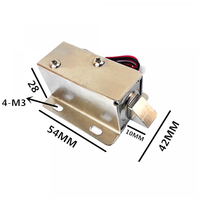 Solenoid door lock
